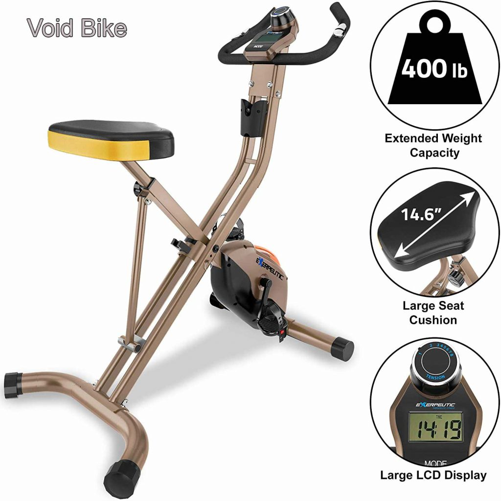 Exerpeutic Gold Heavy Duty - Best Foldable Exercise Bike