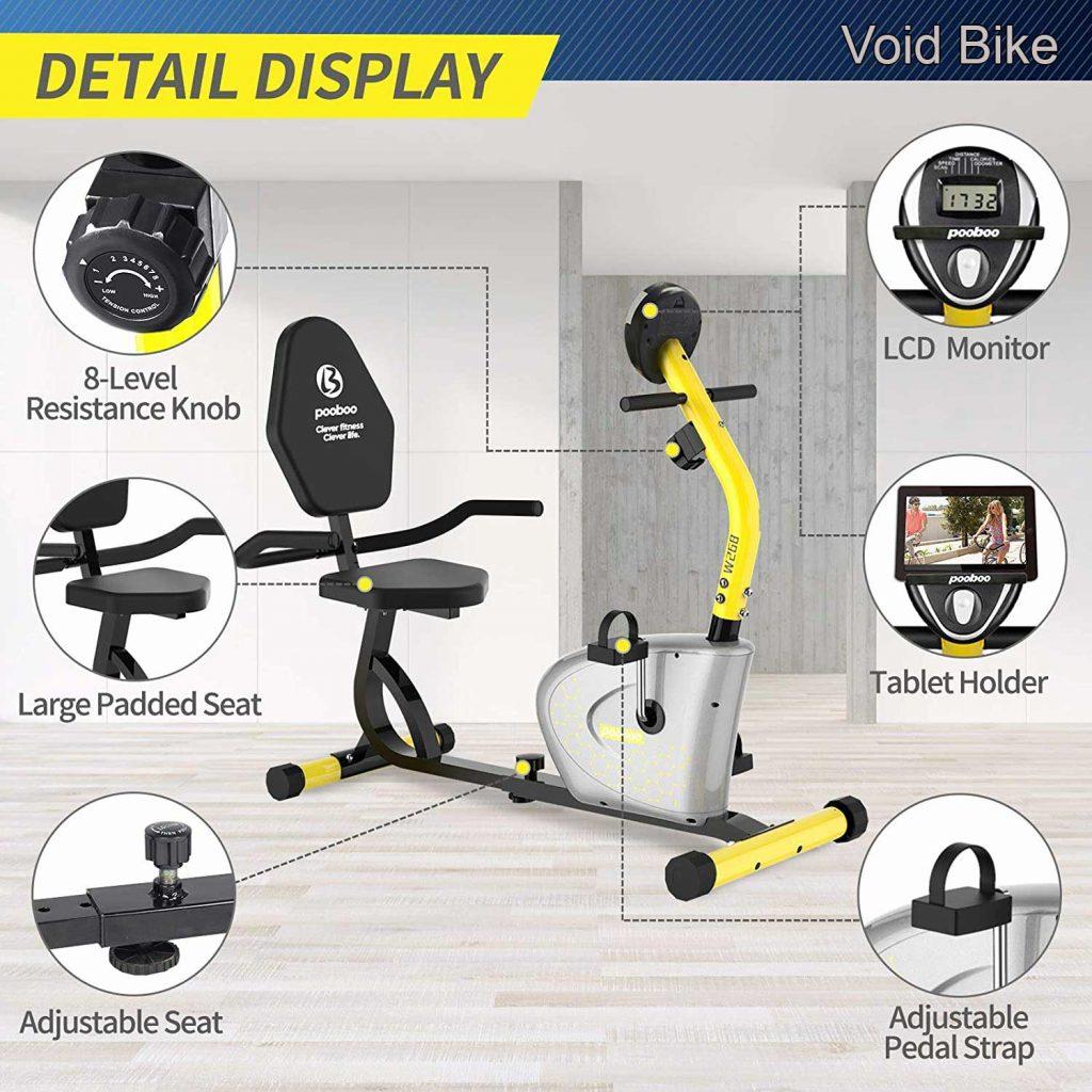 Pooboo Recumbent Exercise Bike
