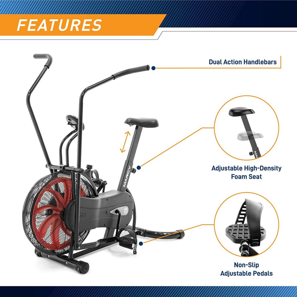 Marcy Fan Exercise Bike NS-1000